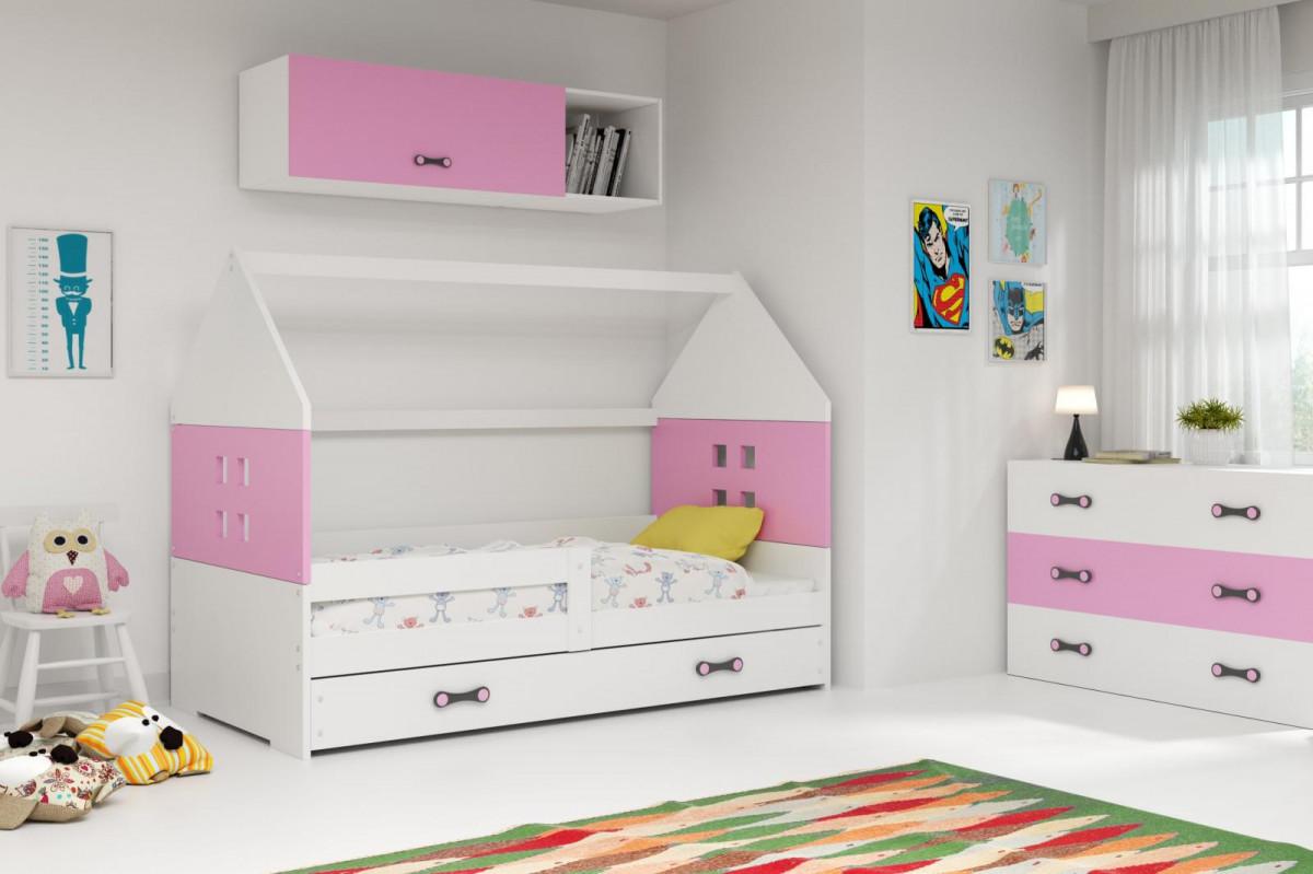 Falco Dětská postel Dominik 80x160 bílá/růžová