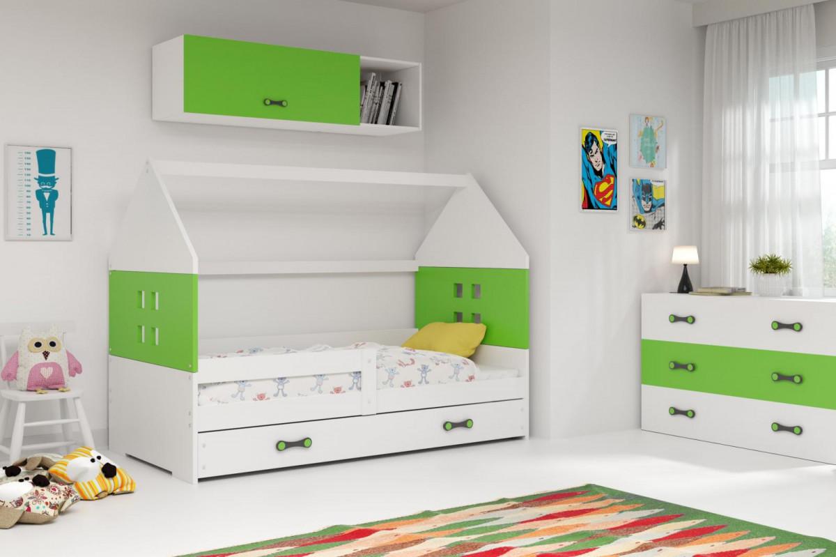 Falco Dětská postel Dominik 80x160 bílá/zelená