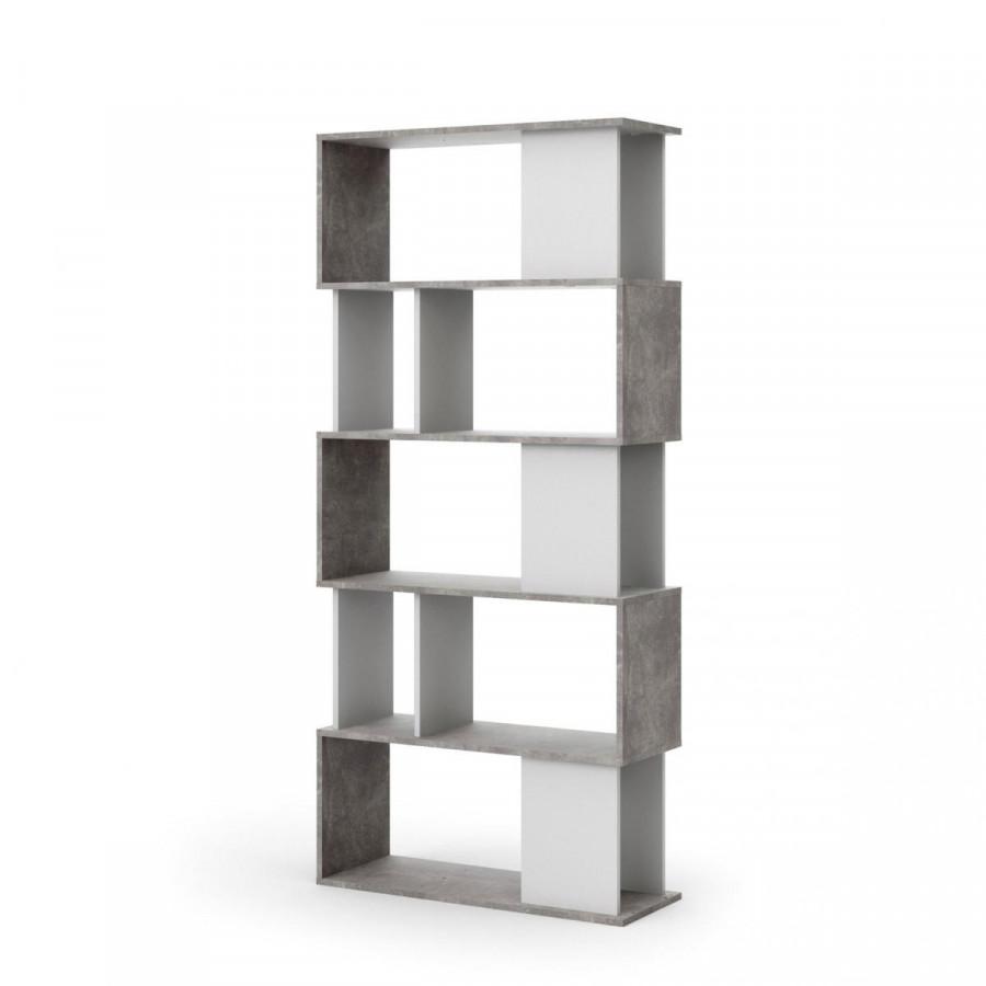 ATAN Regál Penta 735 bílá/beton - II.jakost