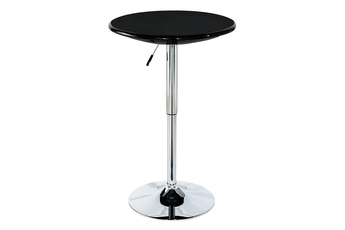 Autronic Barový stůl AUB-4010 BK - černá / chrom