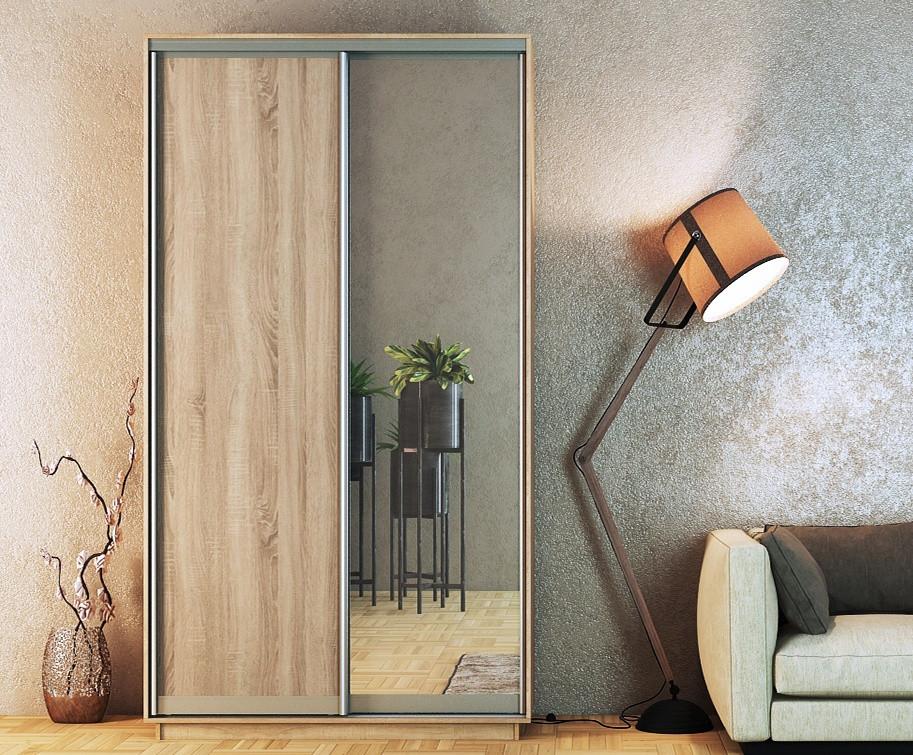Casarredo Šatní skříň STANDARD 150 sonoma/zrcadlo/sonoma