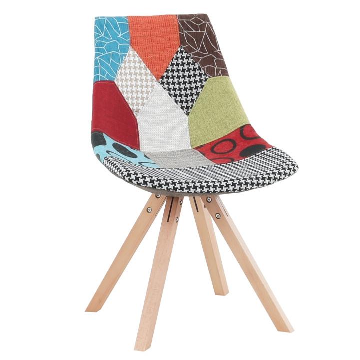 Tempo Kondela Židle KIMA NEW TYP 1 - látka patchwork / dřevo + kupón KONDELA10 na okamžitou slevu 3% (kupón uplatníte v košíku)