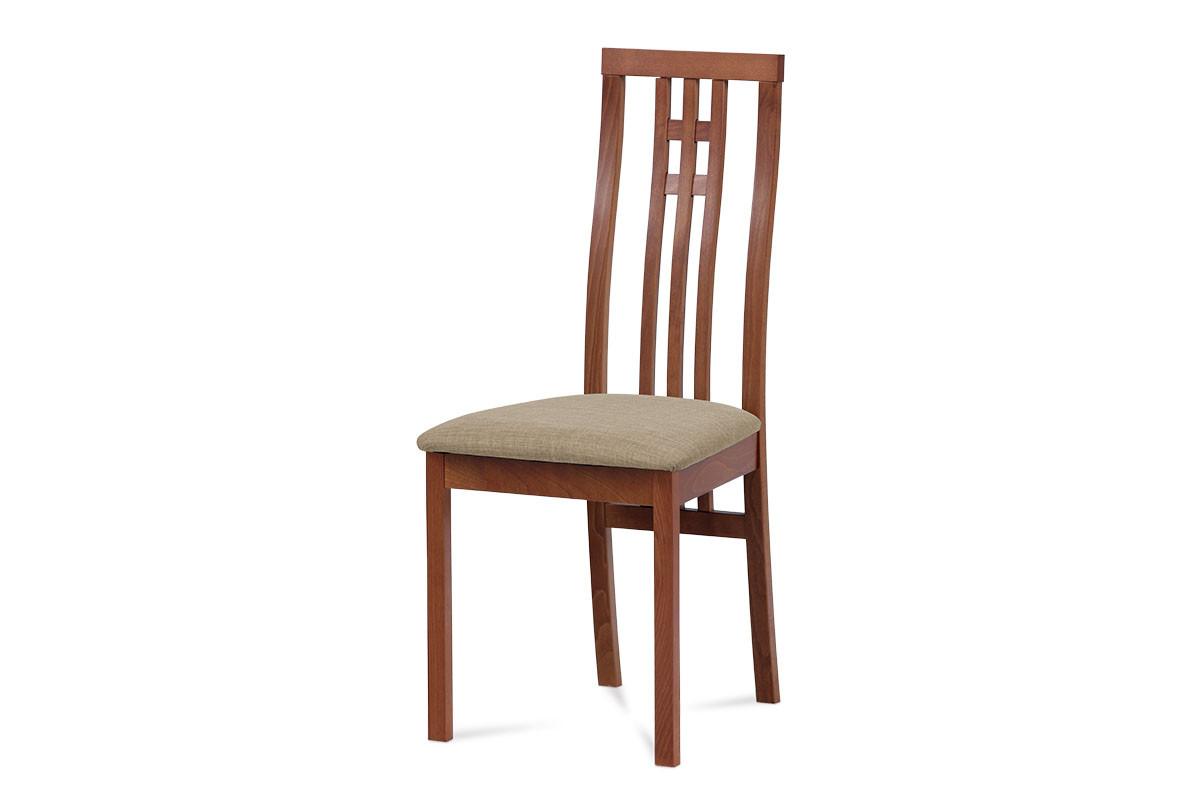 Autronic Jídelní židle BC-2482 TR3 - Třešeň/potah béžový
