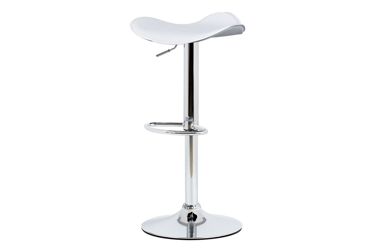 Autronic Barová židle AUB-440 WT - bílá ekokůže