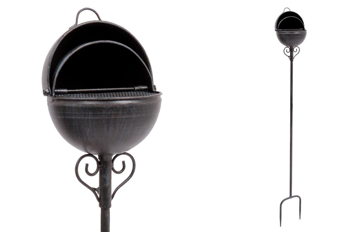 Autronic Popelník, kovová dekorace na zapíchnutí do zahrady UM0751