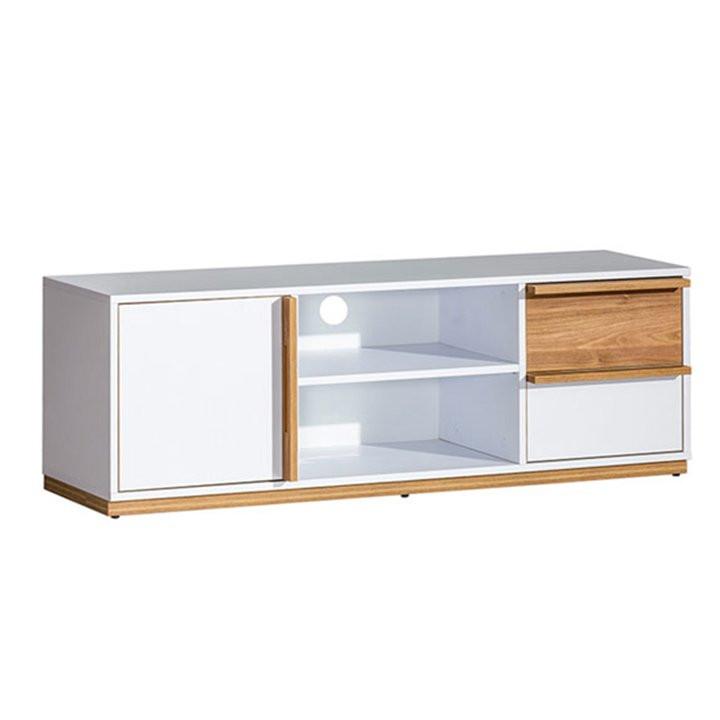 Tempo Kondela Televizní stolek KNOX E4 - ořech/bílá + kupón KONDELA10 na okamžitou slevu 3% (kupón uplatníte v košíku)