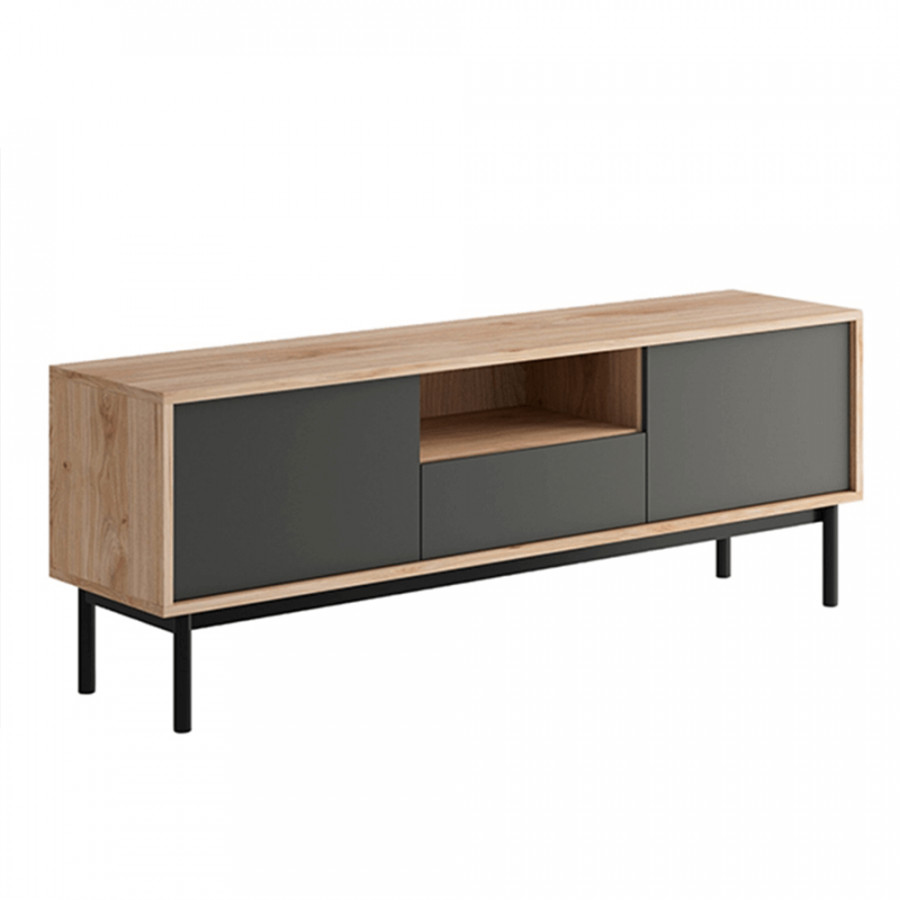 Tempo Kondela Televizní stolek BERGEN BRTV154 - dub/grafit + kupón KONDELA10 na okamžitou slevu 3% (kupón uplatníte v košíku)
