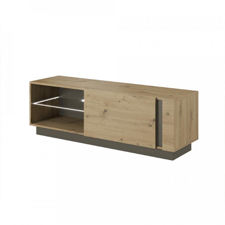 Tempo Kondela Televizní stolek CITY 138, dub/grafit + kupón KONDELA10 na okamžitou slevu 3% (kupón uplatníte v košíku)