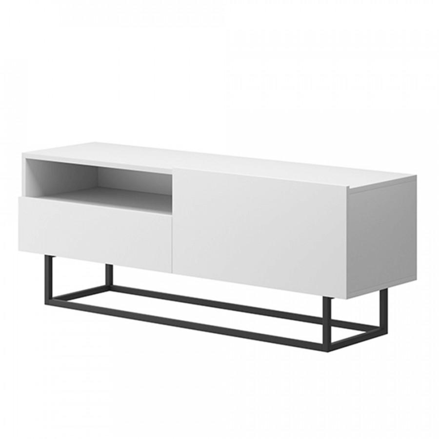 Tempo Kondela Televizní stolek SPRING ERTVSZ120 - bílá + kupón KONDELA10 na okamžitou slevu 3% (kupón uplatníte v košíku)