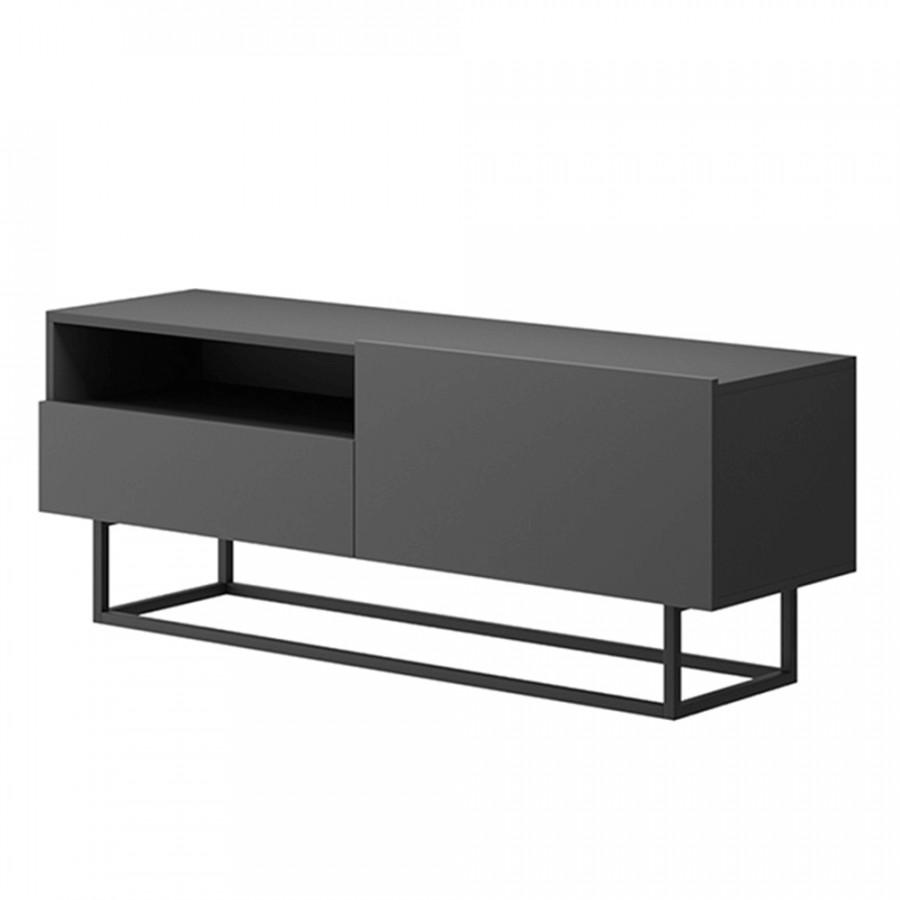 Tempo Kondela Televizní stolek SPRING ERTVSZ120 - grafit + kupón KONDELA10 na okamžitou slevu 3% (kupón uplatníte v košíku)