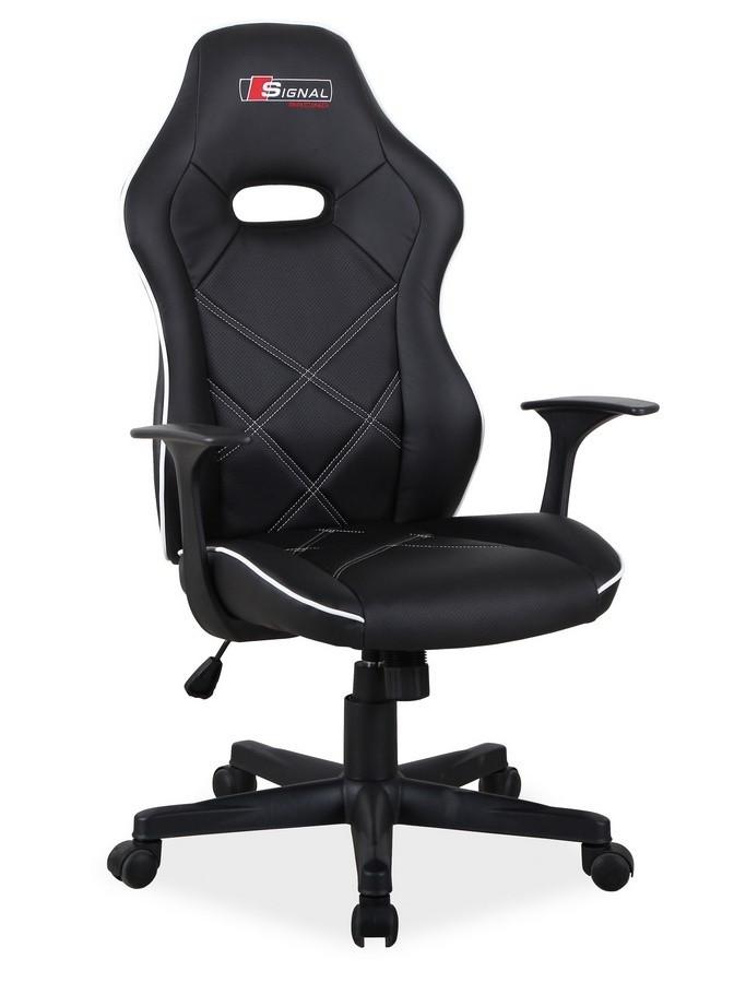 Casarredo Kancelářské křeslo BOXTER černá/bílá