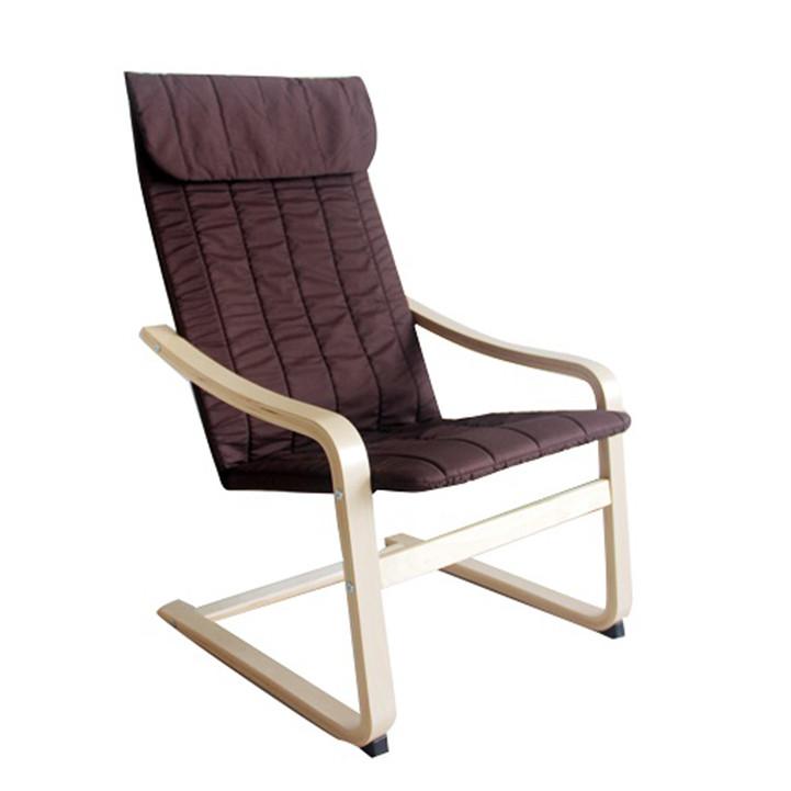 Tempo Kondela Relaxační křeslo TORSTEN - březové dřevo / hnědá látka + kupón KONDELA10 na okamžitou slevu 3% (kupón uplatníte v košíku)