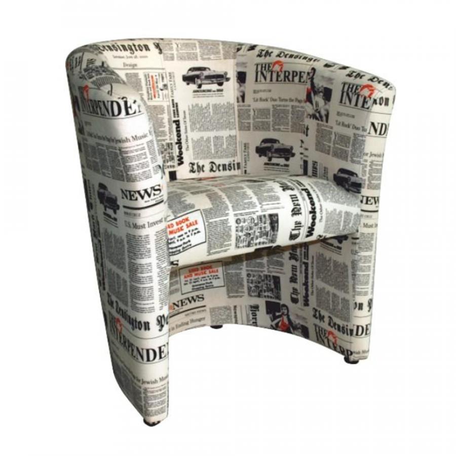 Tempo Kondela Křeslo CUBA - vzor noviny + kupón KONDELA10 na okamžitou slevu 3% (kupón uplatníte v košíku)