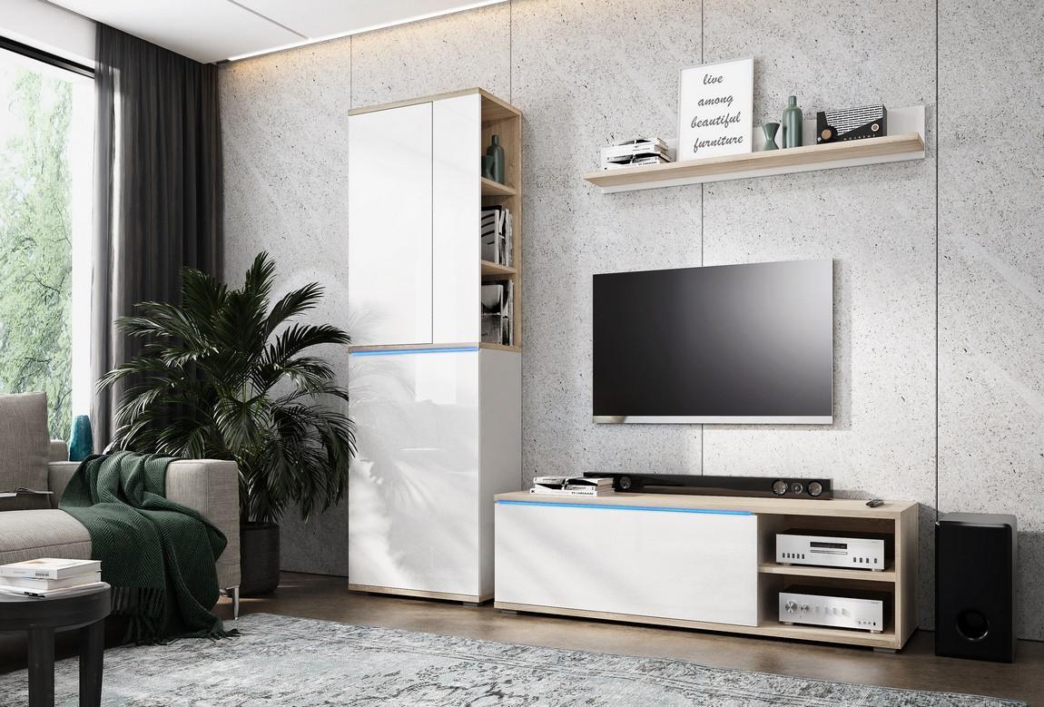 Casarredo Obývací stěna OTTAWA sonoma/bílá mat