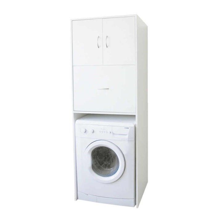 Tempo Kondela Hluboká skříňka nad pračku NATALI TYP 9 - bílá + kupón KONDELA10 na okamžitou slevu 3% (kupón uplatníte v košíku)
