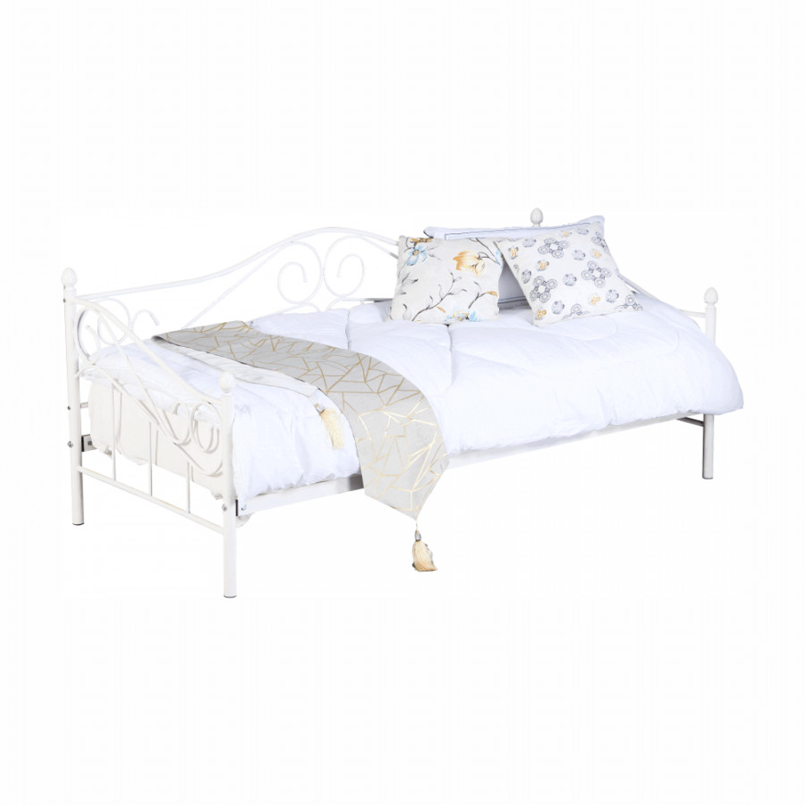 Tempo Kondela Kovová postel DAINA 90x200 - bílá + kupón KONDELA10 na okamžitou slevu 3% (kupón uplatníte v košíku)