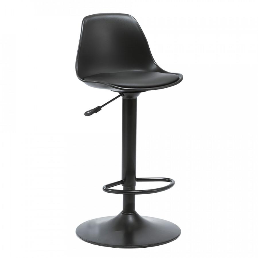ATAN Barová židle DOBBY - černá - II.jakost