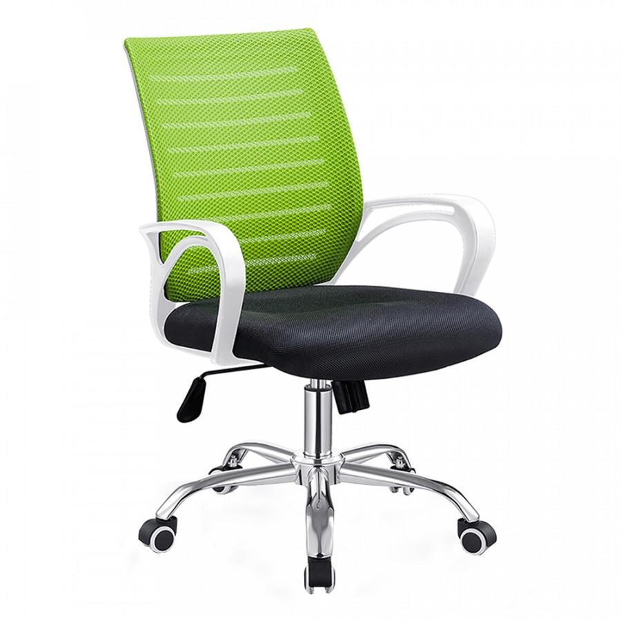 Tempo Kondela Kancelářské křeslo OZELA - zelená/černá/bílá + kupón KONDELA10 na okamžitou slevu 3% (