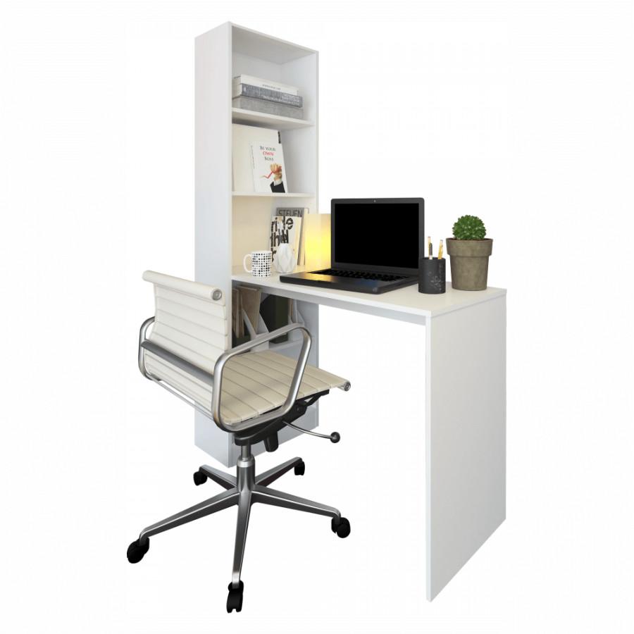Tempo Kondela Víceúčelový psací stůl JASMIN - bílá + kupón KONDELA10 na okamžitou slevu 3% (kupón uplatníte v košíku)