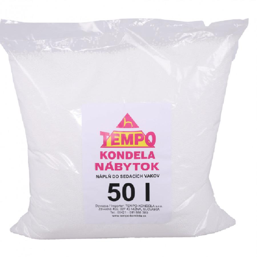 Tempo Kondela Náplň do sedacích vaků, EPS polystyrénové kuličky, balení 50 l + kupón KONDELA10 na ok