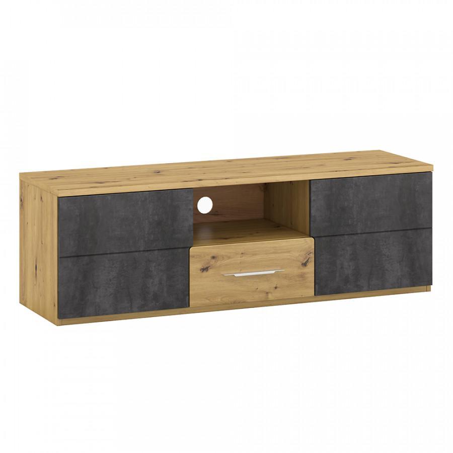 Tempo Kondela Televizní stolek ERIDAN B - dub/šedý beton + kupón KONDELA10 na okamžitou slevu 3% (kupón uplatníte v košíku)