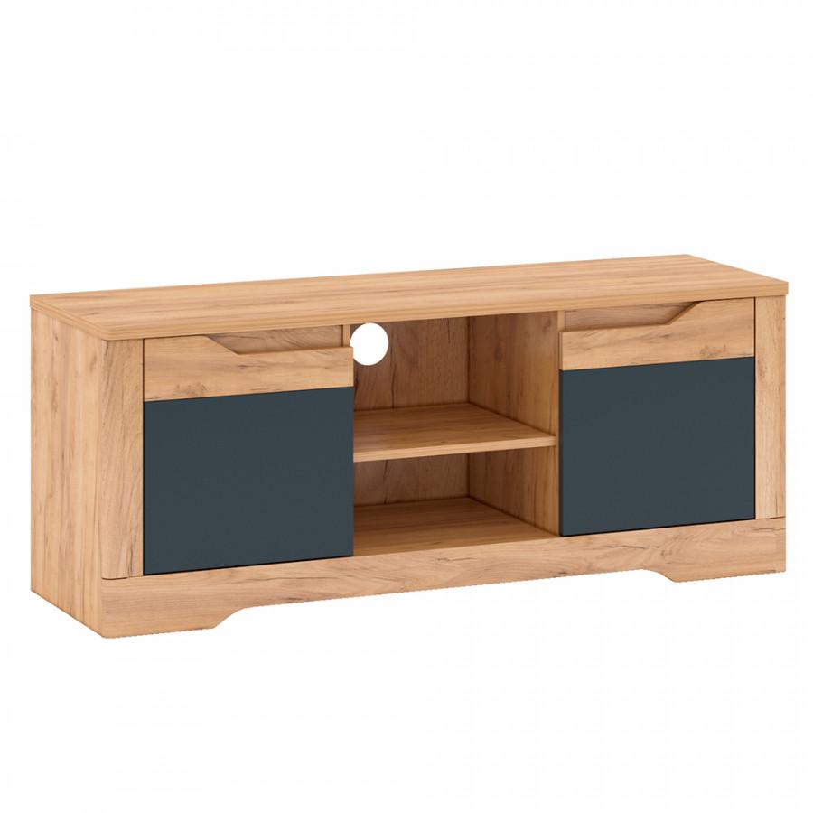 Tempo Kondela Televizní stolek FIDEL B - dub/šedá + kupón KONDELA10 na okamžitou slevu 3% (kupón uplatníte v košíku)