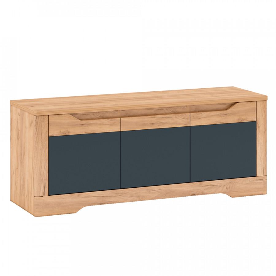 Tempo Kondela Televizní stolek FIDEL J - dub/šedá + kupón KONDELA10 na okamžitou slevu 3% (kupón uplatníte v košíku)