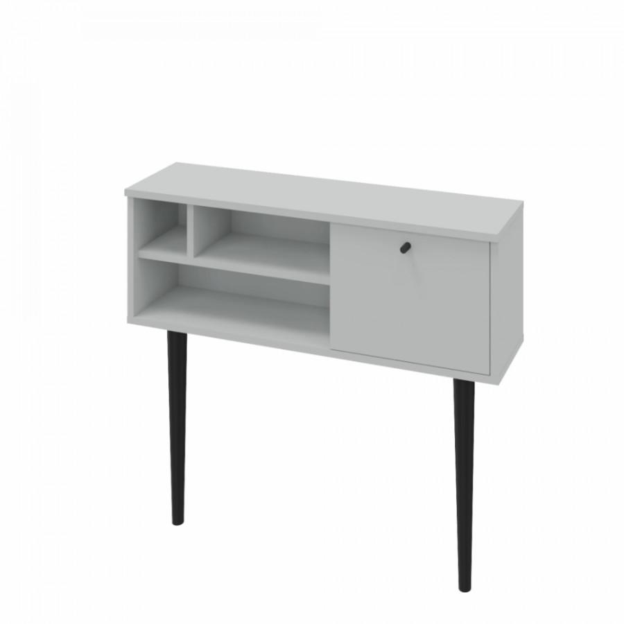 Tempo Kondela Konzolový stolek DEMONT, světle šedá/černá + kupón KONDELA10 na okamžitou slevu 3% (kupón uplatníte v košíku)