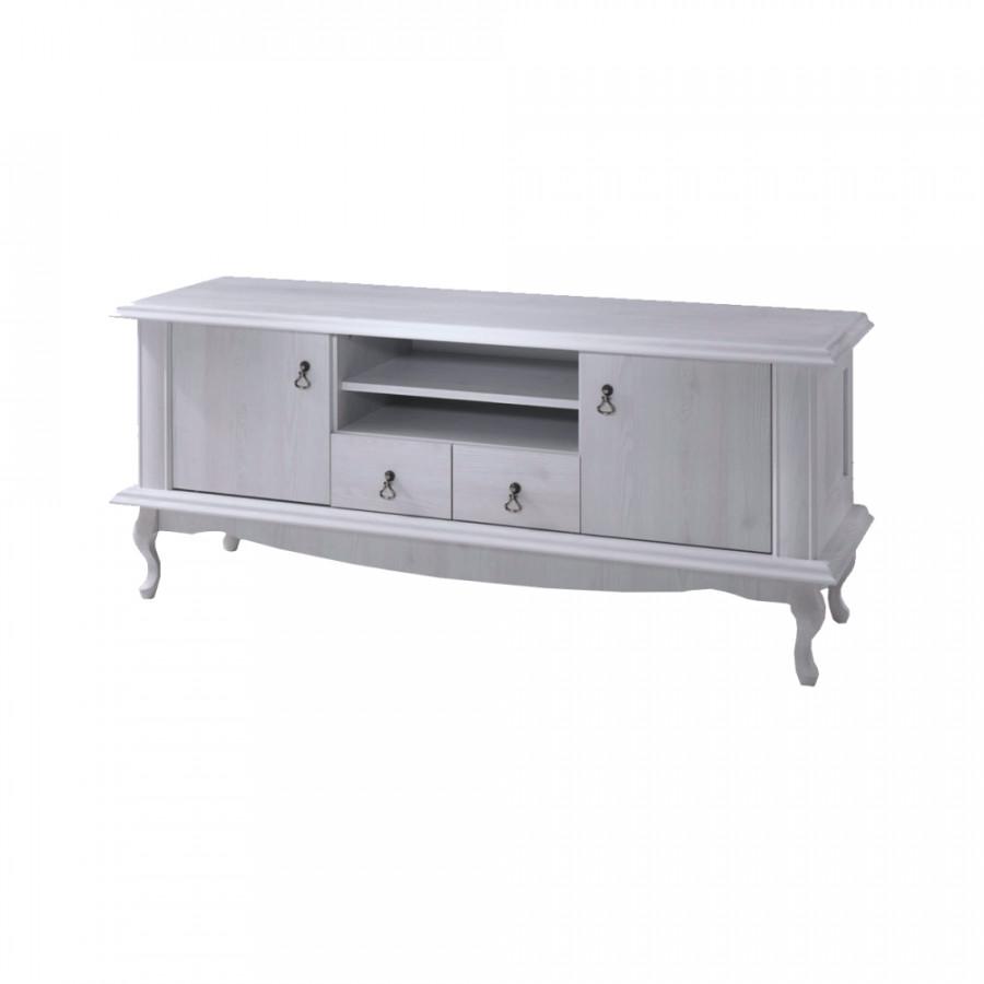 Tempo Kondela Televizní stolek VILAR DA14 - sosna bílá + kupón KONDELA10 na okamžitou slevu 3% (kupón uplatníte v košíku)