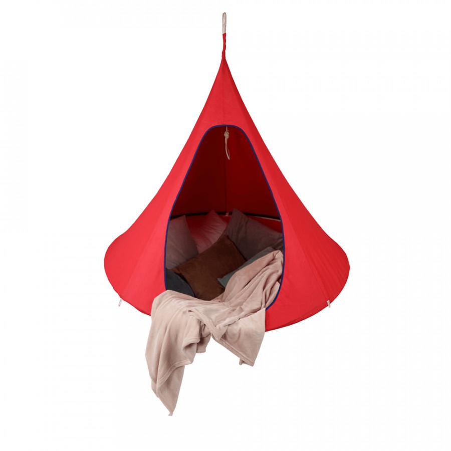 Tempo Kondela Závěsné houpací křeslo KLORIN NEW CACOON HAMMOCK, červená KIDS + kupón KONDELA10 na okamžitou slevu 3% (kupón uplatníte v košíku)