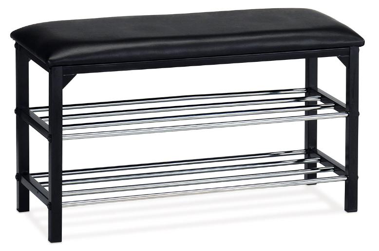 Autronic Botník - taburet 83168-13 BK Černá