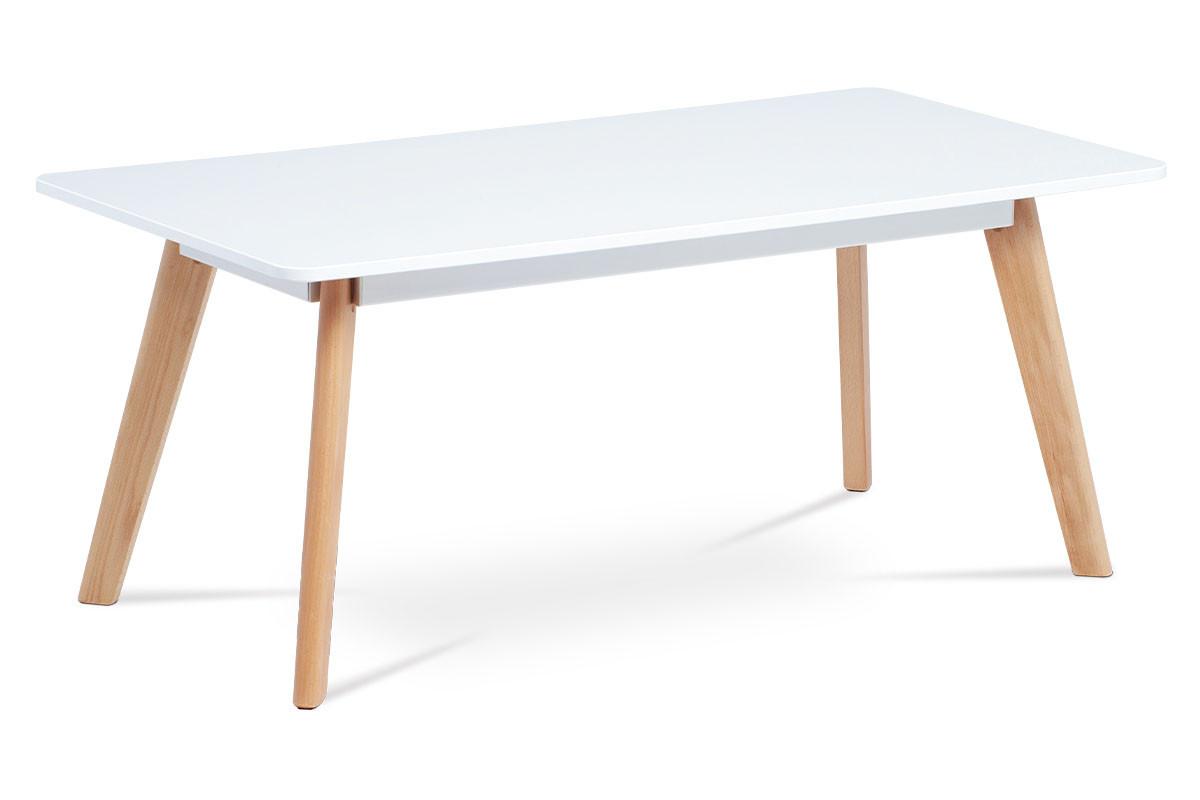 Autronic Konferenční stolek ACT-666 WT - bílá matná/buk