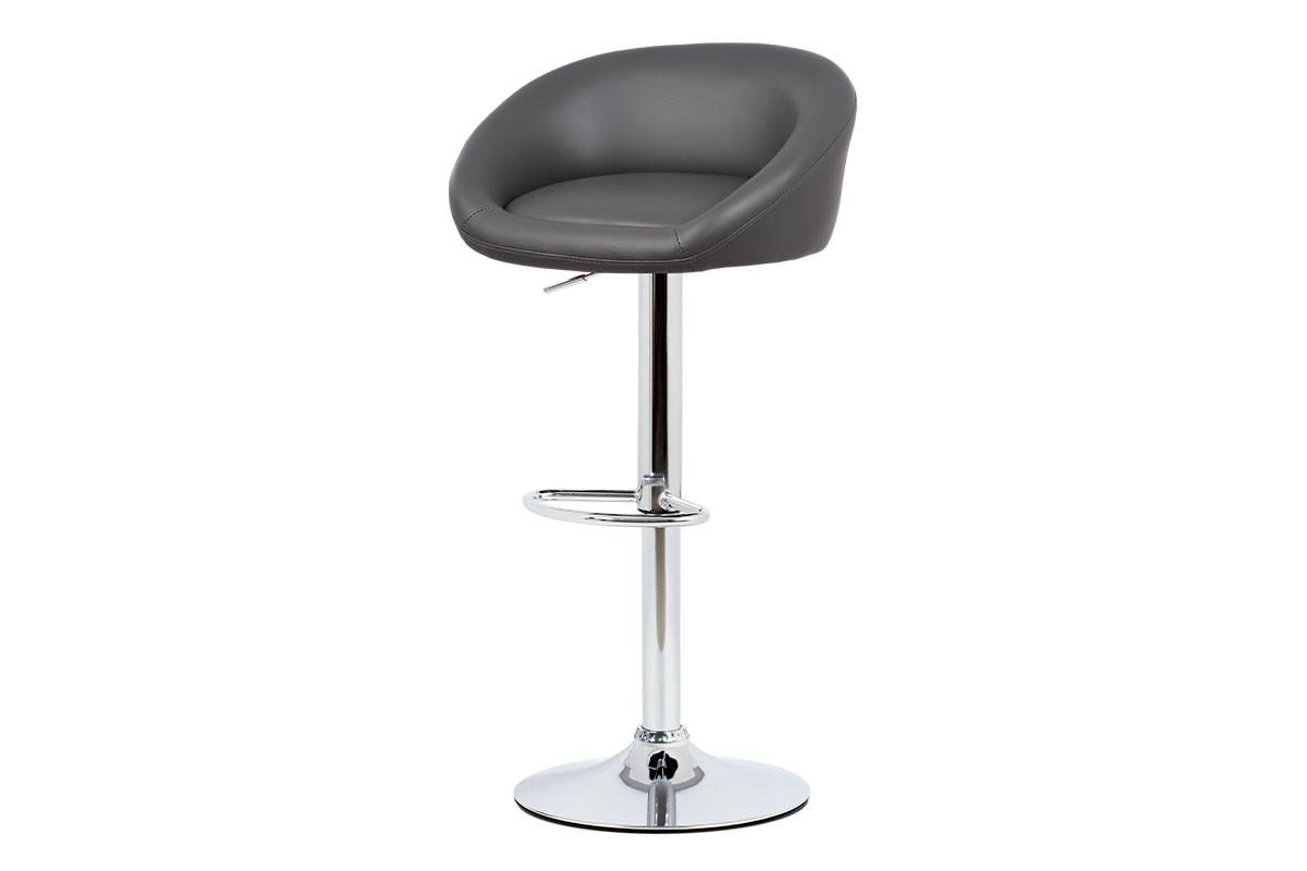 Autronic Barová židle AUB-445 GREY - šedá