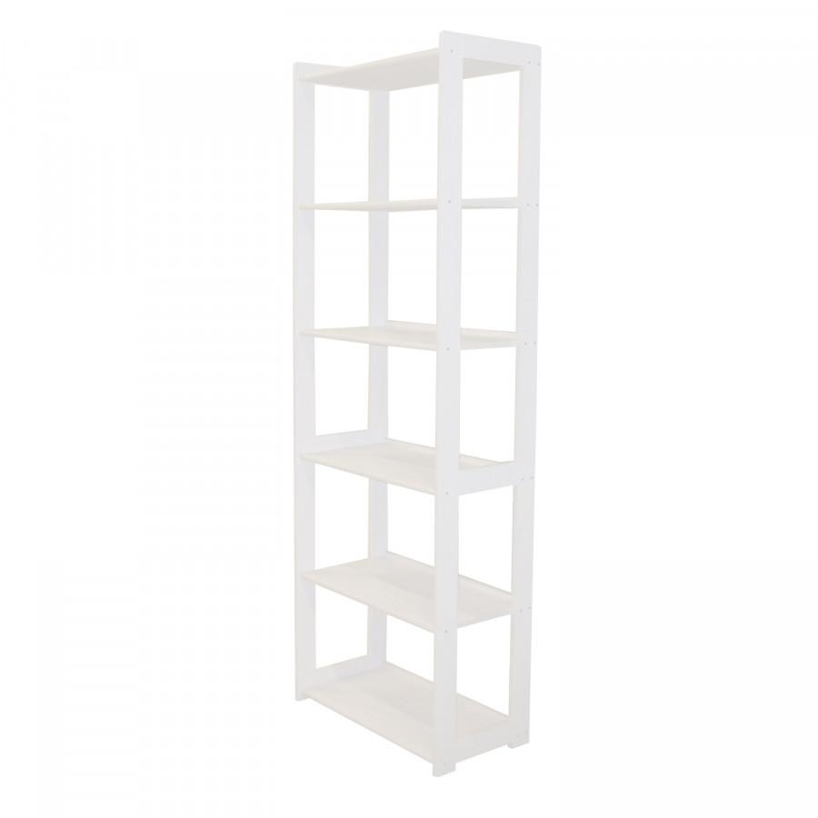 Idea Knihovna STYL 6 polic bílý lak