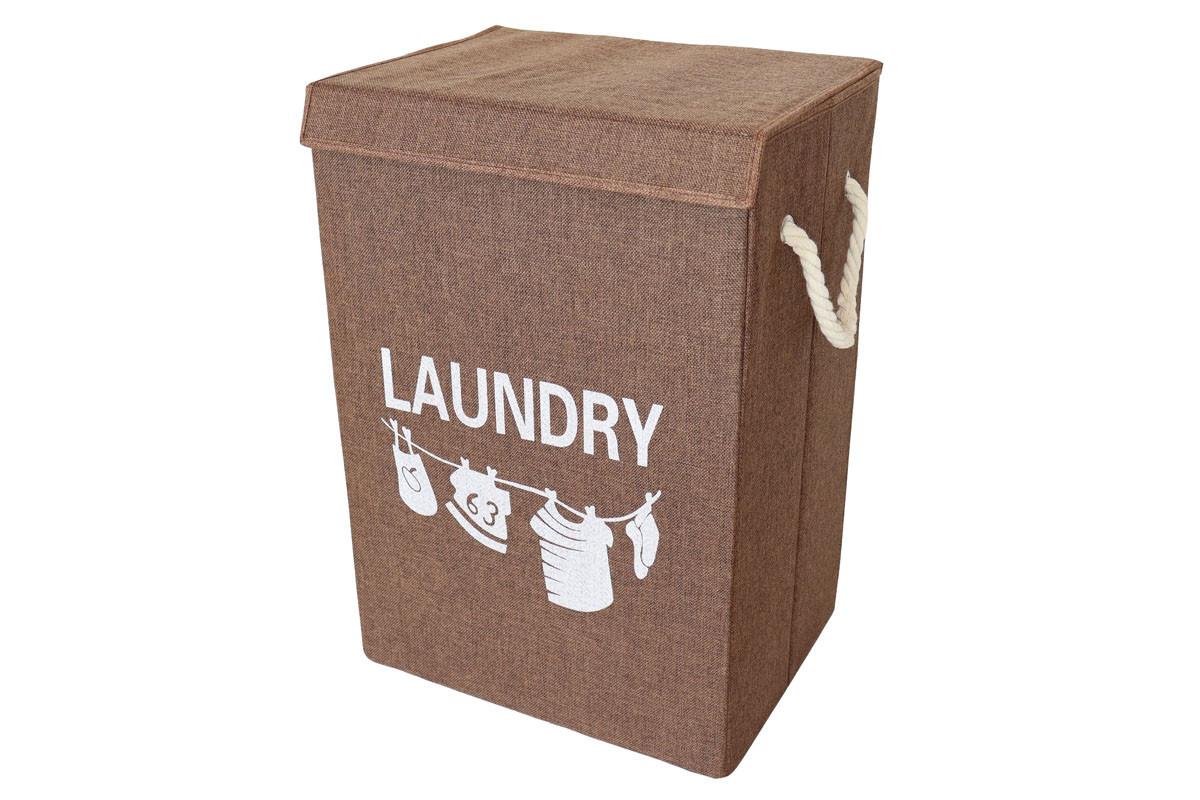 Autronic Koš na prádlo plátěný hnědý DD3121