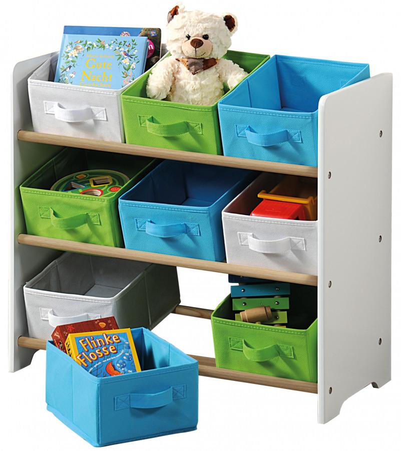 Kesper Organizer na hračky s barevnými boxy UBKE0414