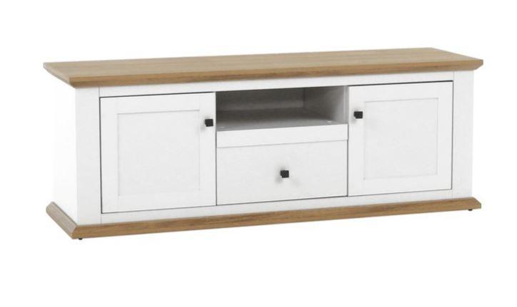 Tempo Kondela Televizní stolek LEON MZ15 - bílá/dub grand + kupón KONDELA10 na okamžitou slevu 3% (kupón uplatníte v košíku)