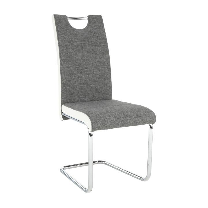 Tempo Kondela Židle IZMA - bílá ekokůže / šedá látka + kupón KONDELA10 na okamžitou slevu 3% (kupón uplatníte v košíku)