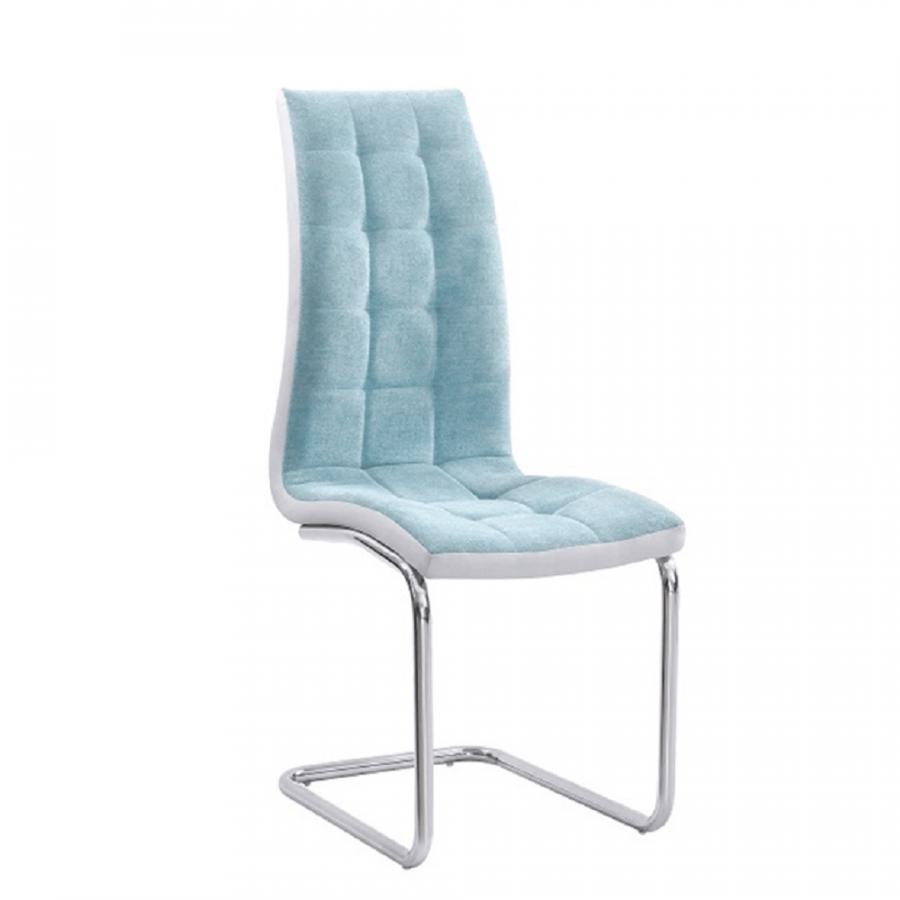 Tempo Kondela Jídelní židle SALOMA NEW - mentolová / chrom + kupón KONDELA10 na okamžitou slevu 3% (kupón uplatníte v košíku)