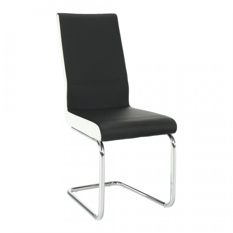 Tempo Kondela Židle NEANA - ekokůže černá / bílá + kupón KONDELA10 na okamžitou slevu 3% (kupón uplatníte v košíku)