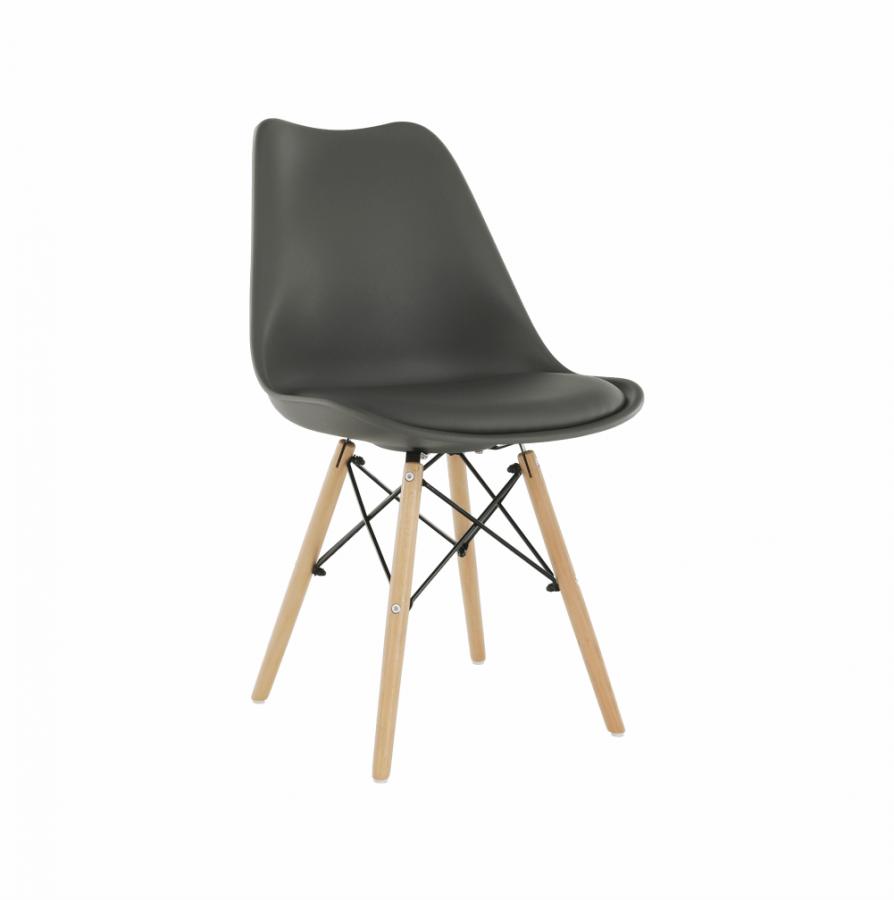 Tempo Kondela Židle Kemal NEW - tmavě šedá / buk + kupón KONDELA10 na okamžitou slevu 3% (kupón uplatníte v košíku)