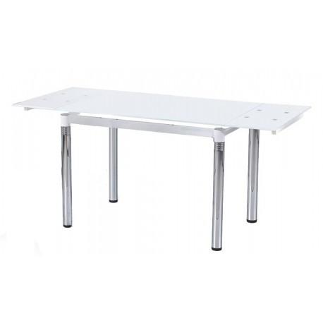 Halmar Jídelní stůl L-31 Bílé sklo