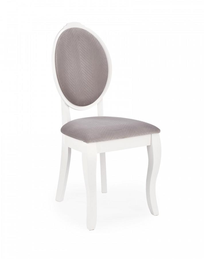 Halmar Jídelní židle VELO - bílé/šedá