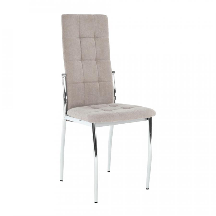 Tempo Kondela Židle ADORA NEW - hnědá látka / kov + kupón KONDELA10 na okamžitou slevu 3% (kupón uplatníte v košíku)
